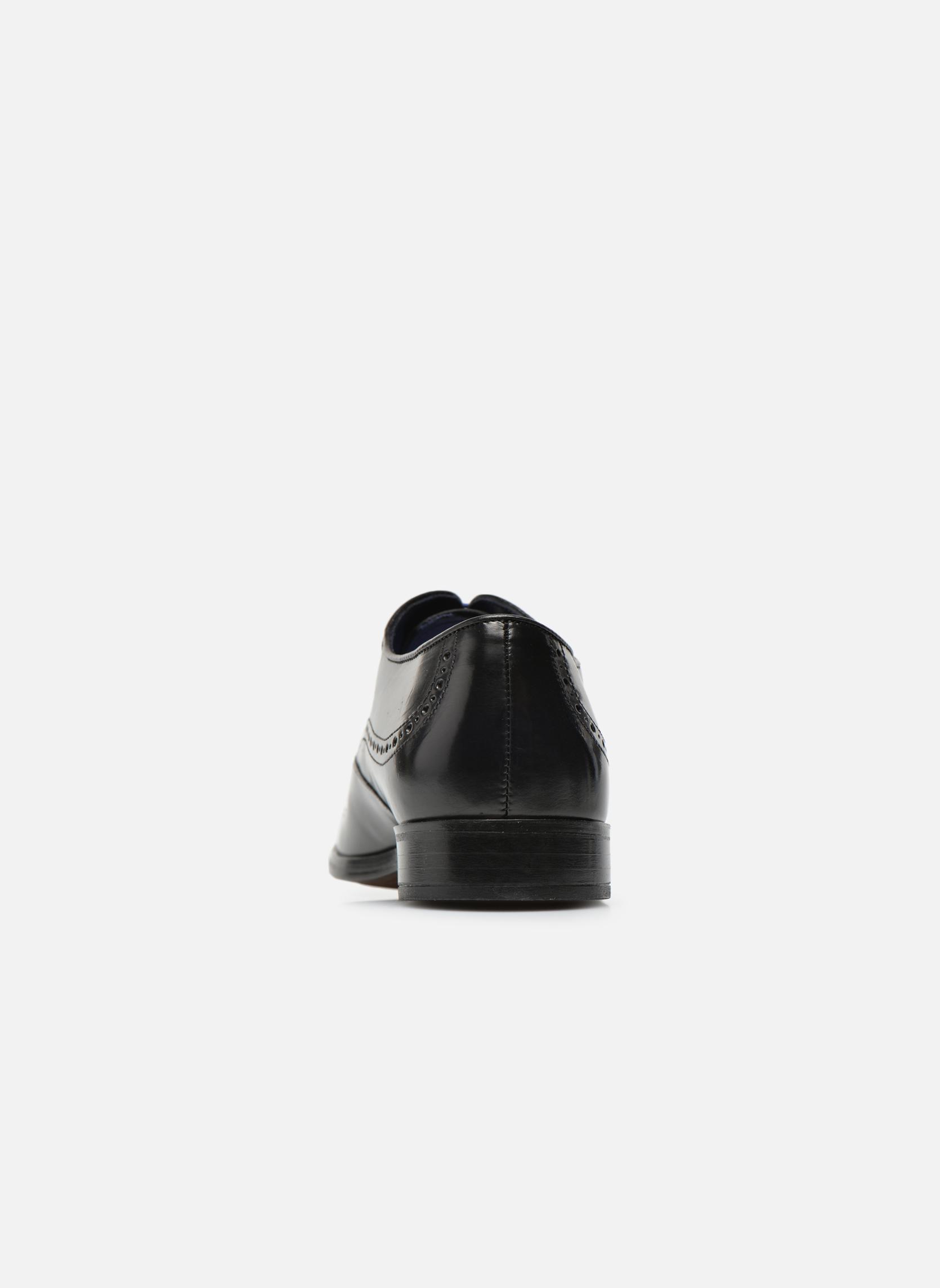 Zapatos con cordones Azzaro Depeche Negro vista lateral derecha