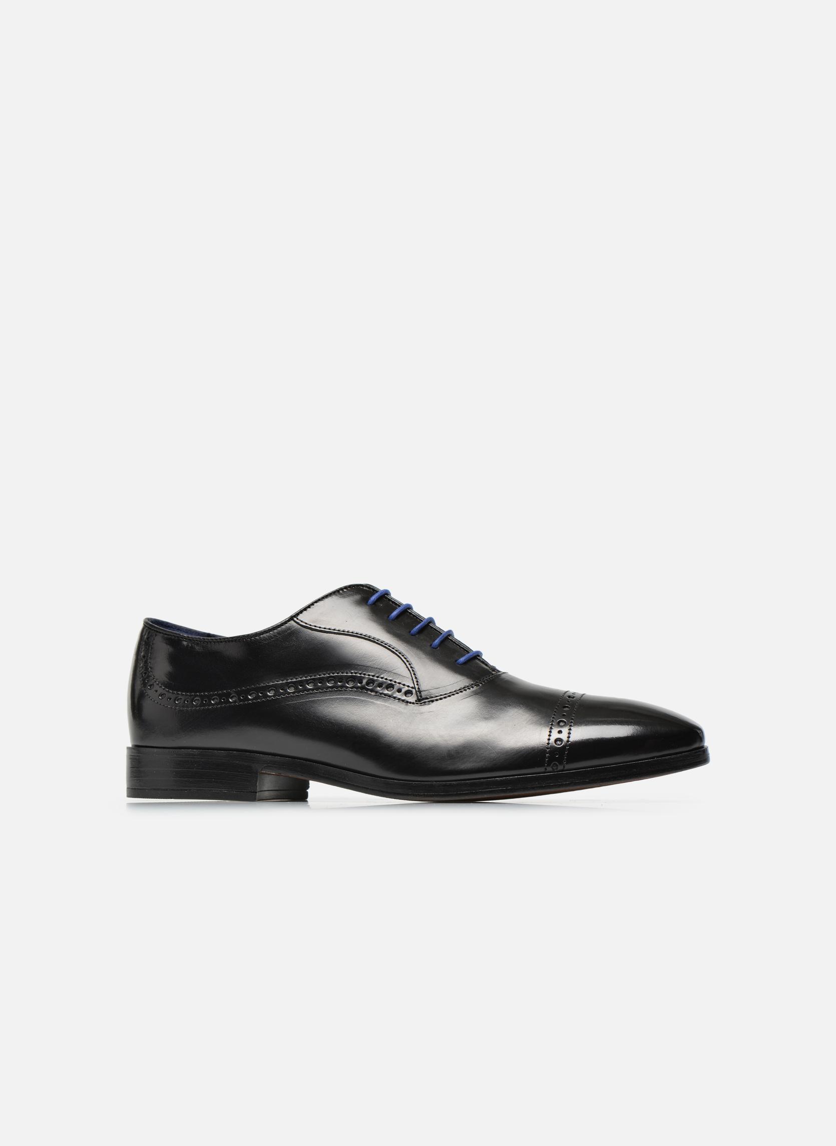 Chaussures à lacets Azzaro Depeche Noir vue derrière