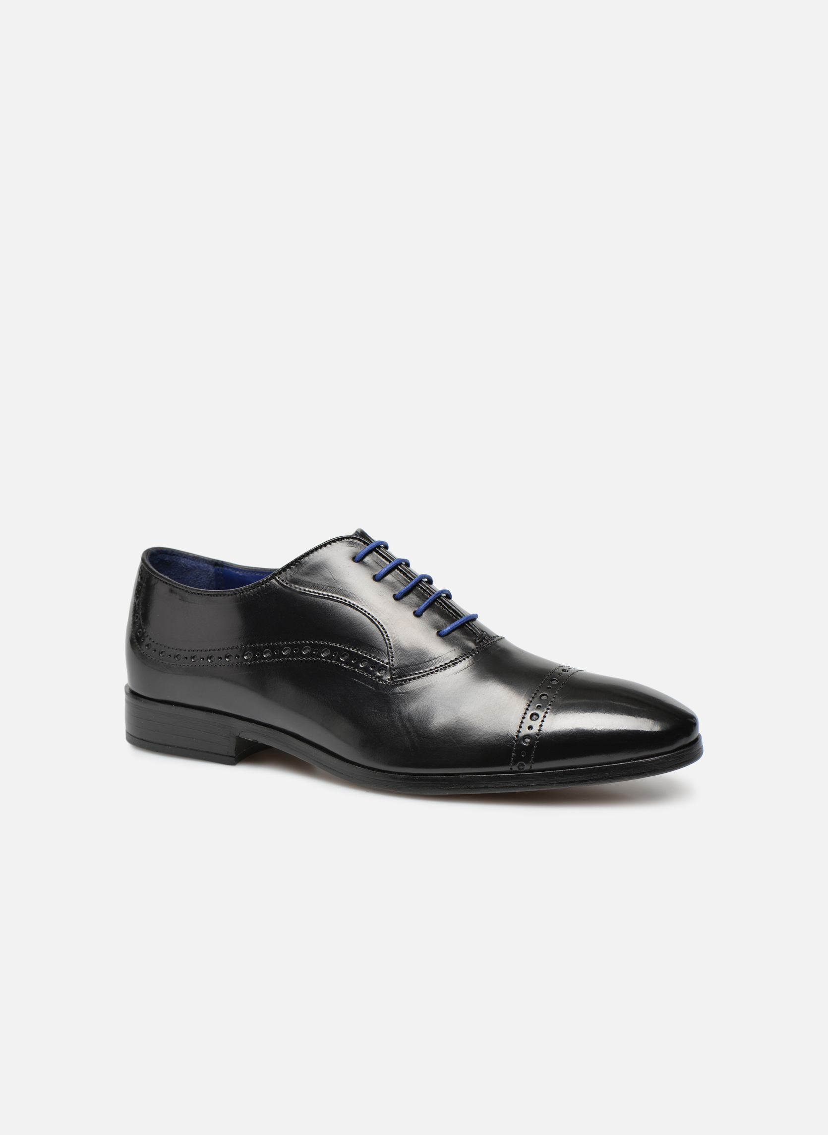 Lace-up shoes Azzaro Depeche Black detailed view/ Pair view