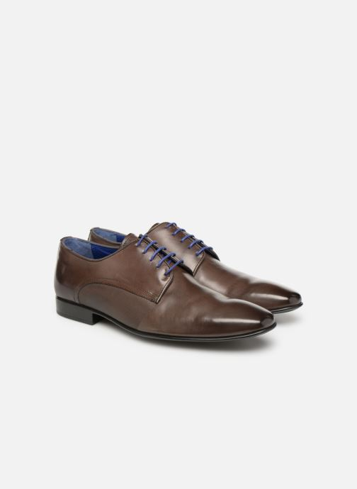 Lace-up shoes Azzaro Nabou Brown 3/4 view