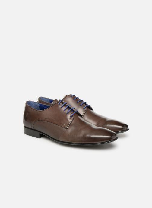Zapatos con cordones Azzaro Nabou Marrón vista 3/4