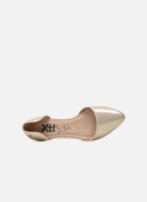Ballet pumps Xti Cilu-27689 Bronze and Gold view from the left