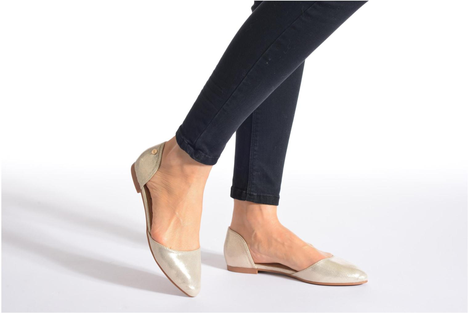 Ballet pumps Xti Cilu-27689 Bronze and Gold view from underneath / model view