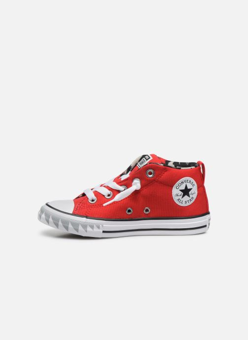 Baskets Converse Chuck Taylor All Star Street Mid Rouge vue face