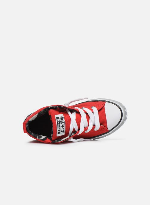 Baskets Converse Chuck Taylor All Star Street Mid Rouge vue gauche