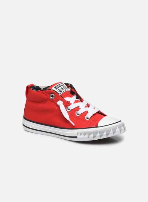 Baskets Converse Chuck Taylor All Star Street Mid Rouge vue détail/paire