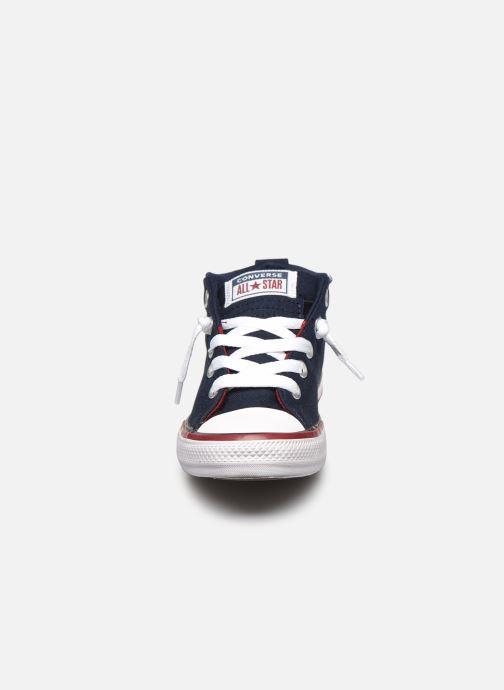 Sneaker Converse Chuck Taylor All Star Street Mid blau schuhe getragen