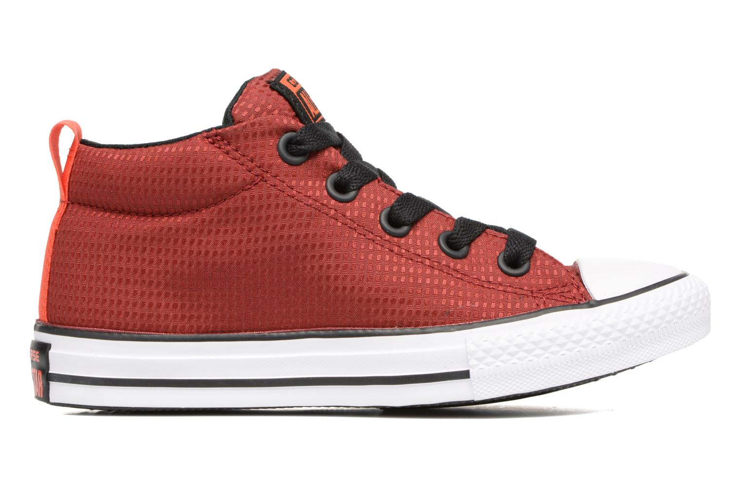 Baskets Converse Chuck Taylor All Star Street Mid Rouge vue derrière
