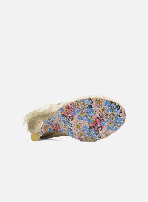 Zapatos de tacón Irregular choice Baby Love Beige vista de arriba