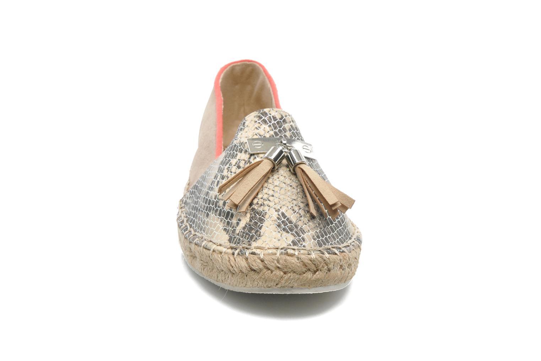 Espadrilles La Strada Becca Beige vue portées chaussures