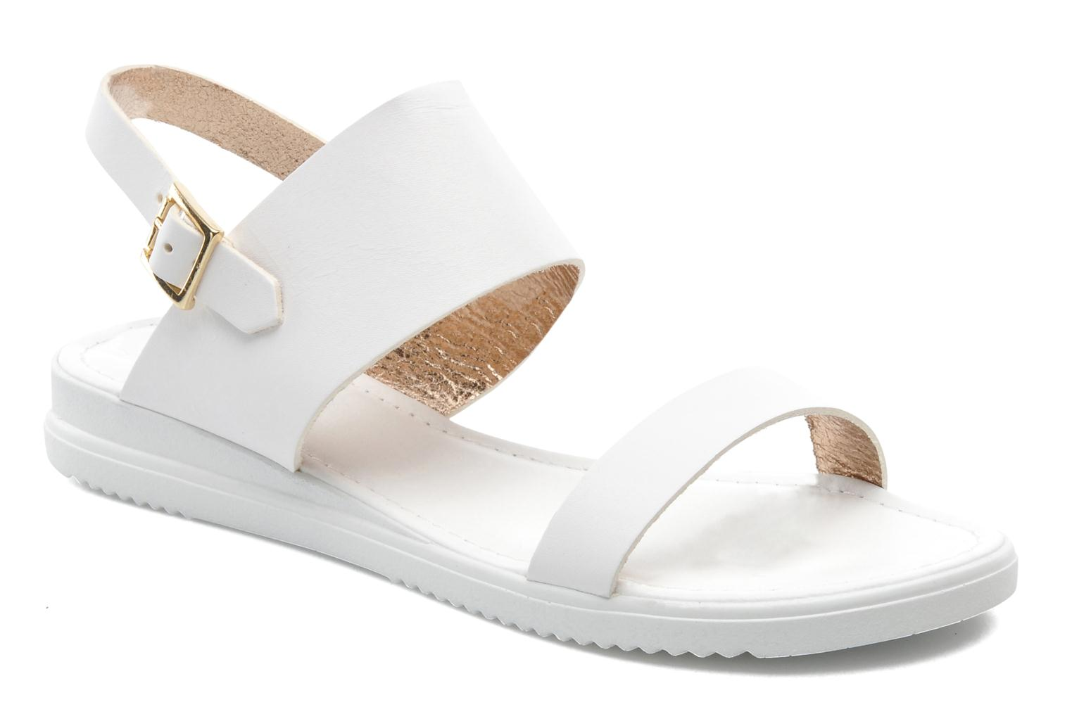 Sandals Georgia Rose Jofou White detailed view/ Pair view