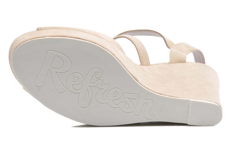Sandales et nu-pieds Refresh Nolan-60761 Beige vue haut