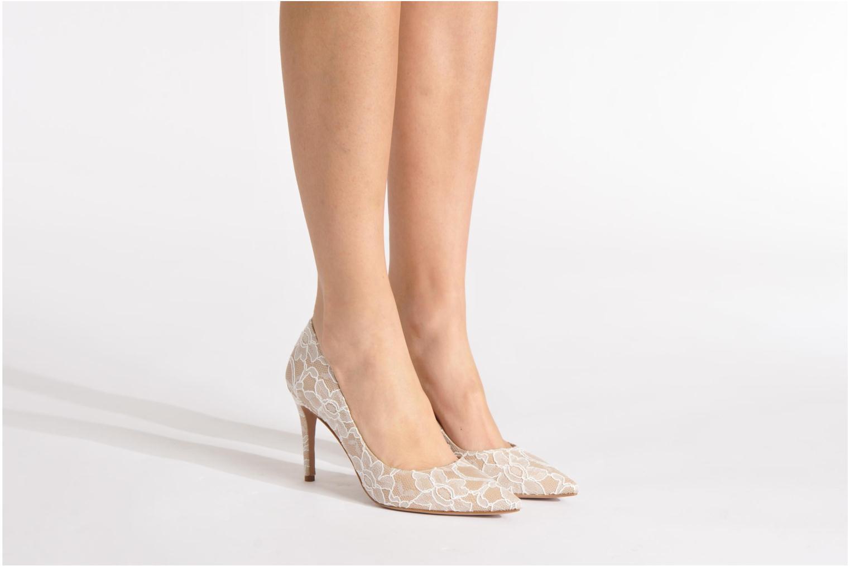 Zapatos de tacón Pura Lopez Escarpin mariée Beige vista de abajo