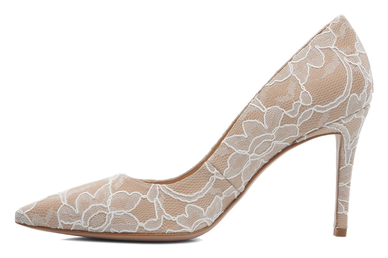 Zapatos de tacón Pura Lopez Escarpin mariée Beige vista de frente