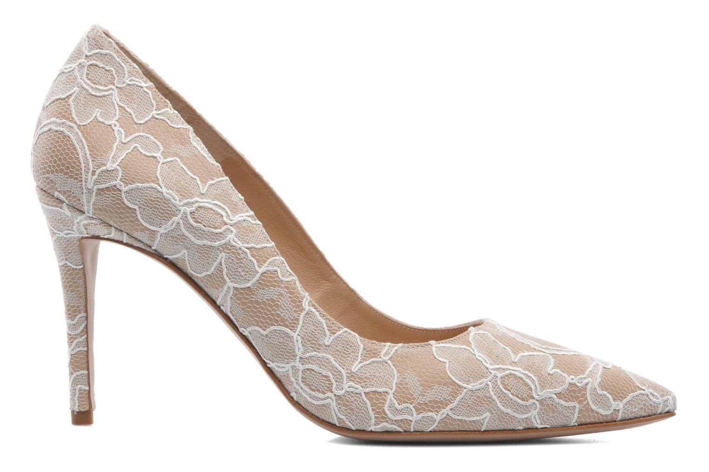 Zapatos de tacón Pura Lopez Escarpin mariée Beige vistra trasera