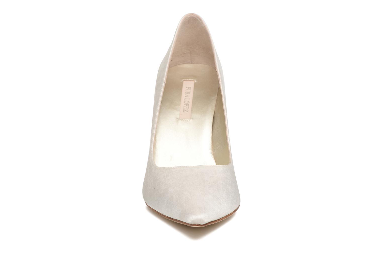 Escarpins Pura Lopez Escarpin mariée Blanc vue portées chaussures