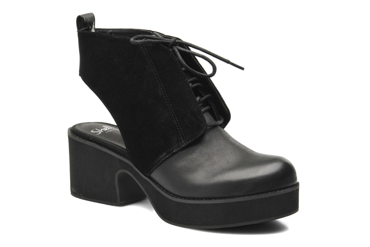 Ankle boots Shellys London Michellton Black detailed view/ Pair view
