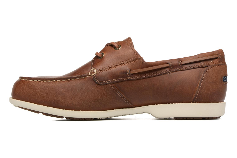 Chaussures à lacets Rockport 2-Eye Marron vue face
