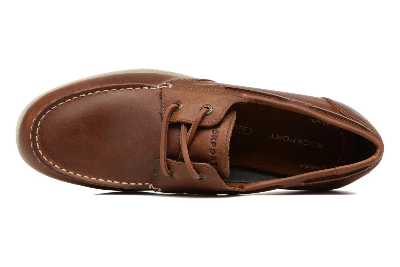 Chaussures à lacets Rockport 2-Eye Marron vue gauche