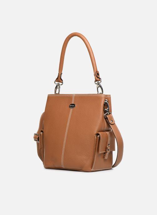 Handtaschen Mac Douglas VESUVIO Mégalo S braun schuhe getragen
