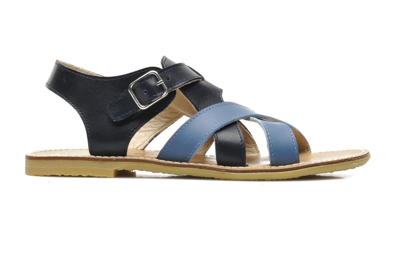 Sandalen Manuela de Juan Ben blau ansicht von hinten