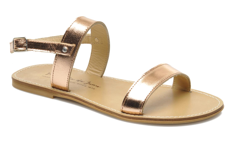 Sandals Manuela de Juan Helena Pink detailed view/ Pair view