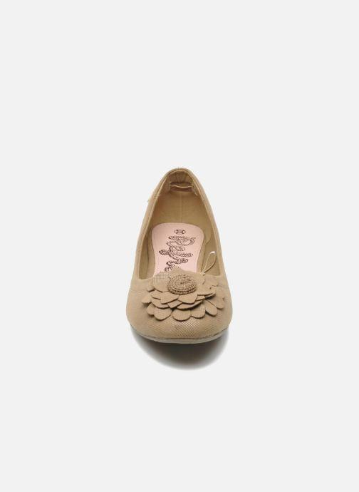 Ballerines Refresh Kourwato 2 Beige vue portées chaussures