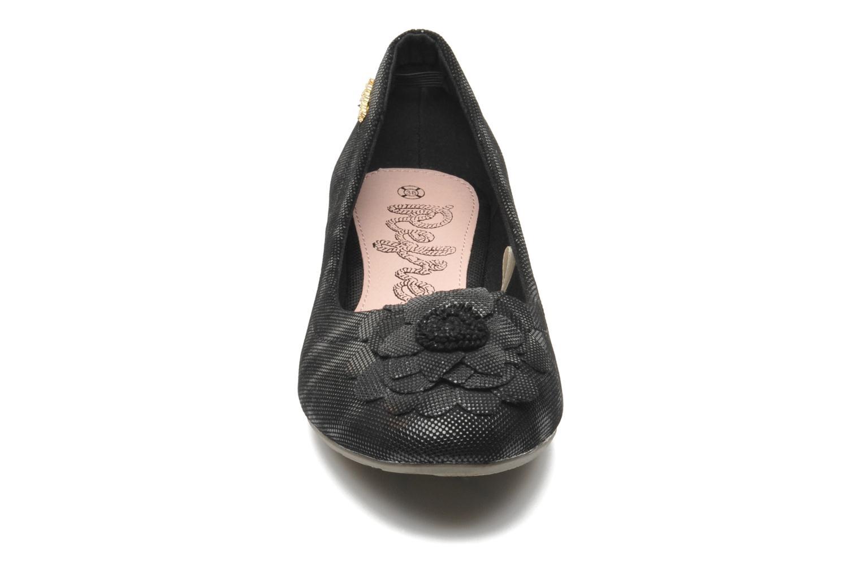 Ballerines Refresh Kourwato 2 Noir vue portées chaussures