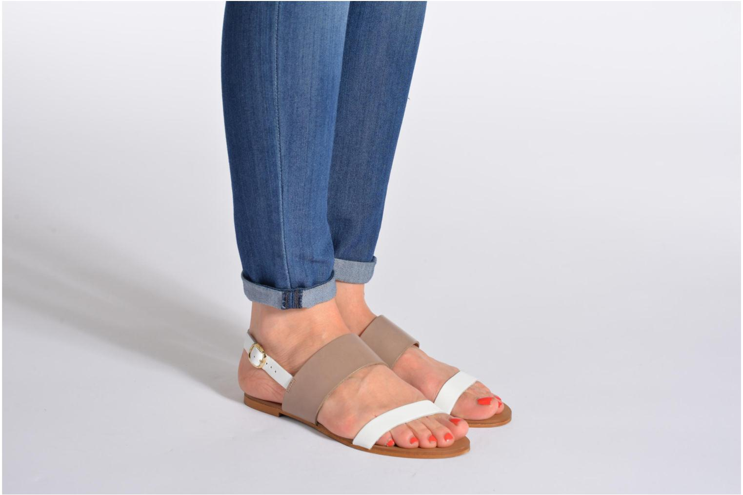 Sandals Georgia Rose Lulzy Beige view from underneath / model view