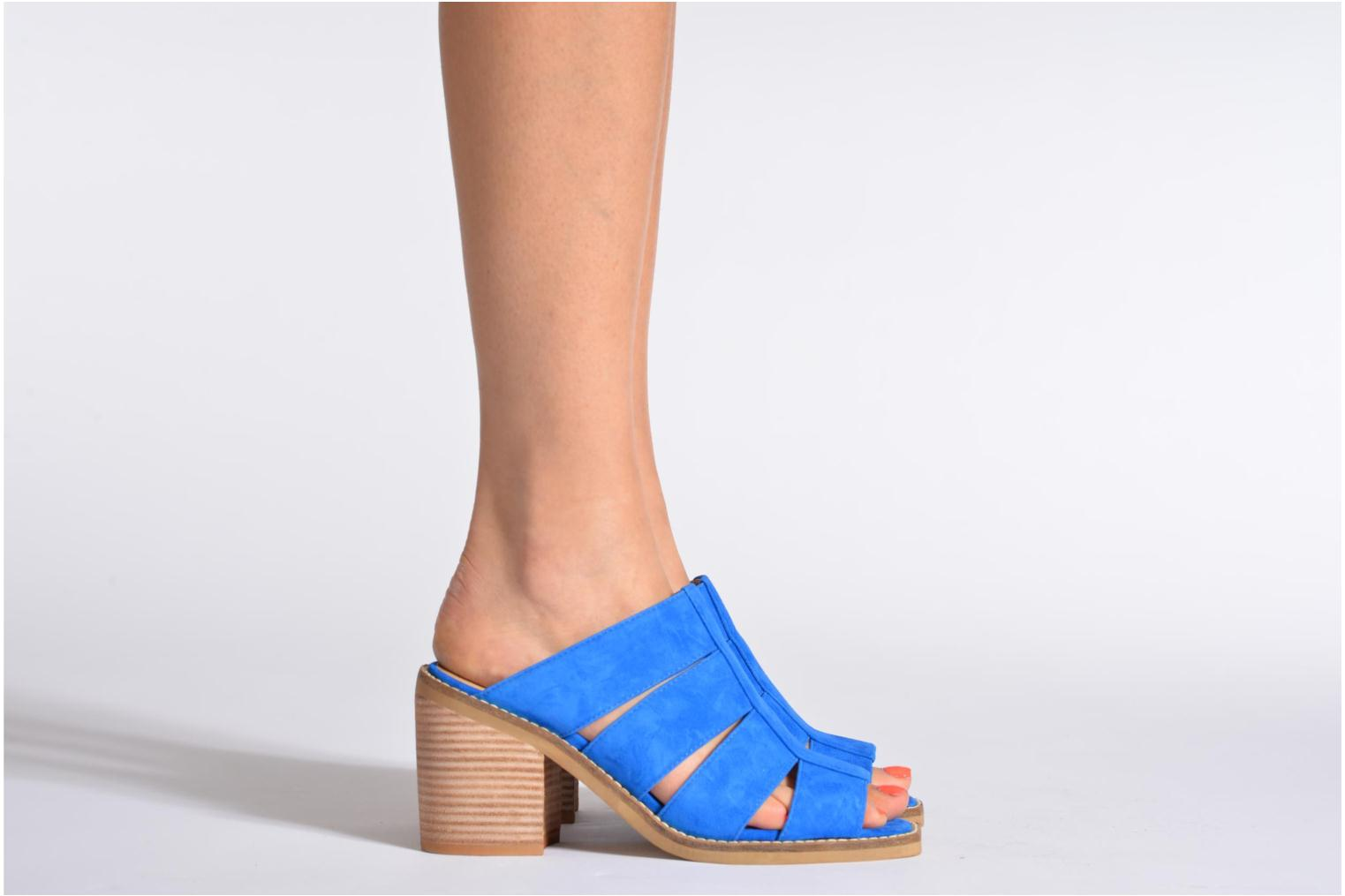 Mules & clogs Shellys London BARDY Blue view from underneath / model view