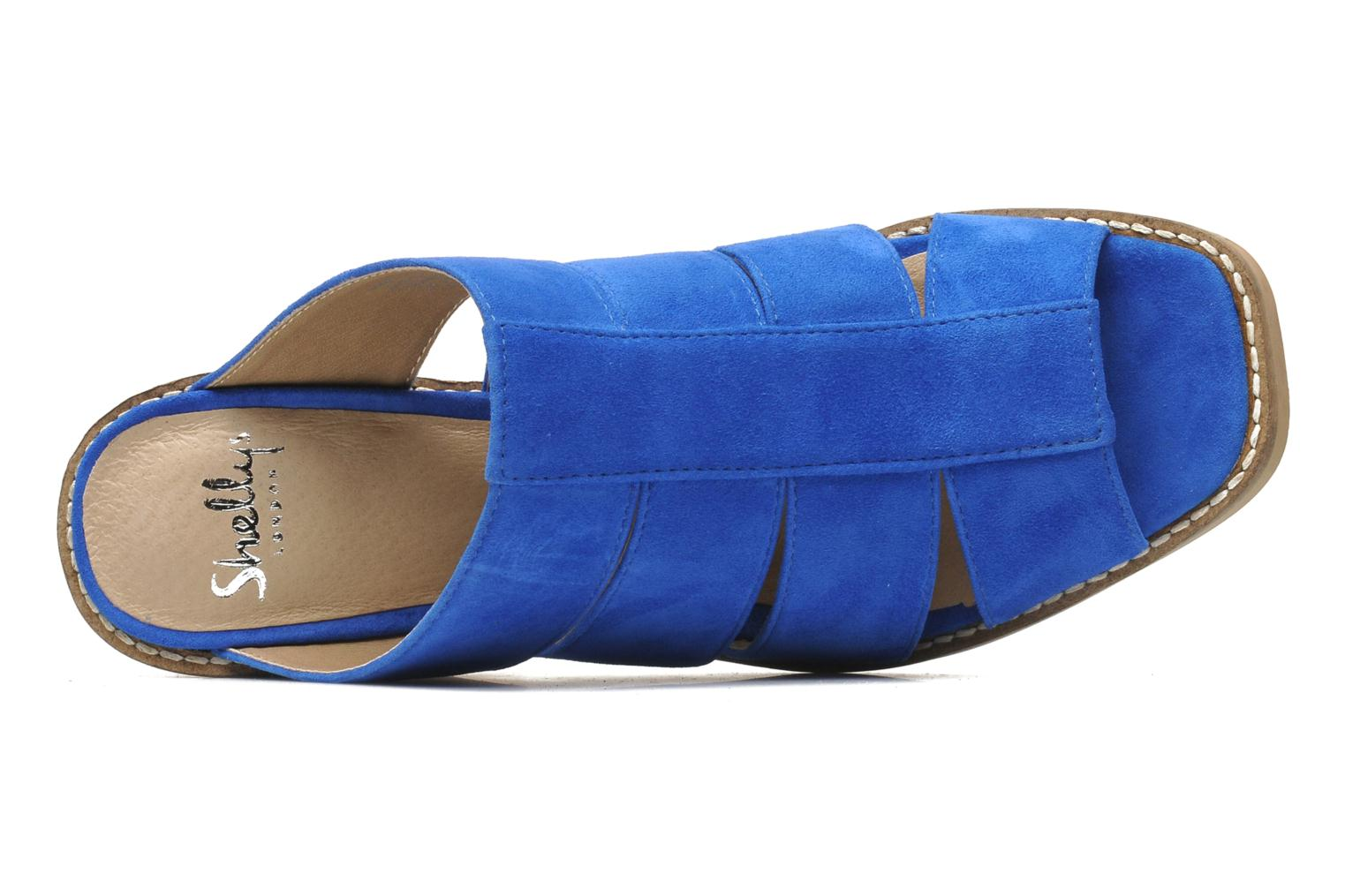 Mules & clogs Shellys London BARDY Blue view from the left