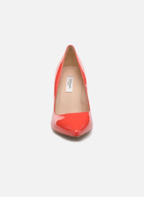 Zapatos de tacón L.K. Bennett Fern Naranja vista del modelo