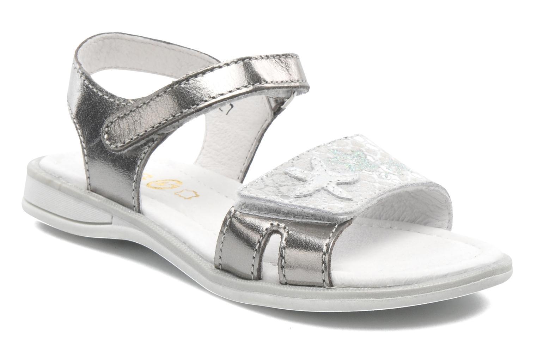 Sandals GBB IRAIS Silver detailed view/ Pair view