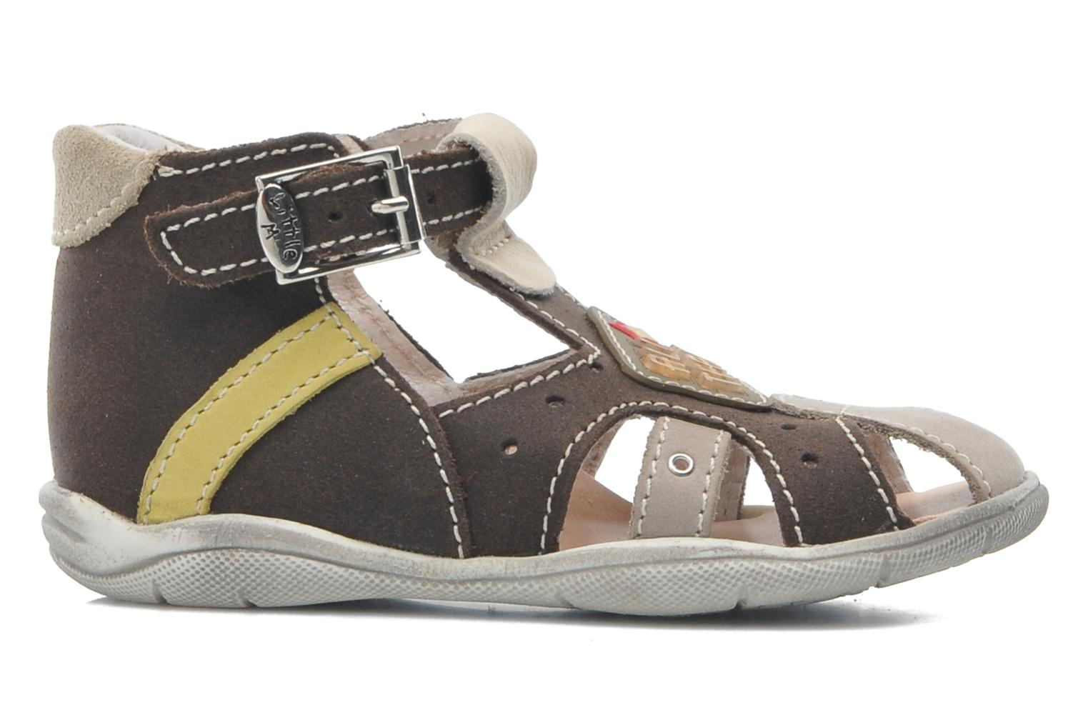 Sandals Little Mary SLALOM Brown back view