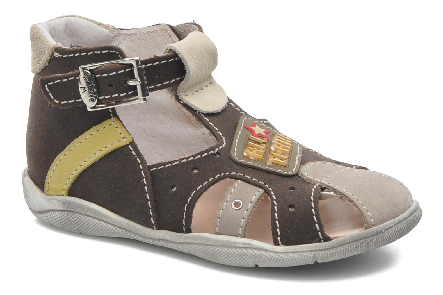Sandals Little Mary SLALOM Brown detailed view/ Pair view