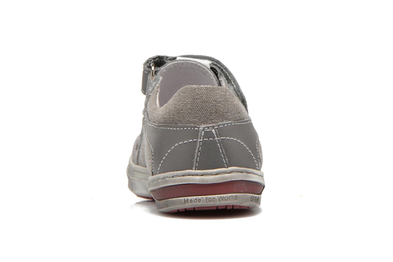 Chaussures à scratch Little Mary SALVATORE Gris vue droite