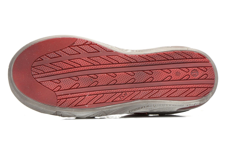 Chaussures à scratch Little Mary SALVATORE Gris vue haut