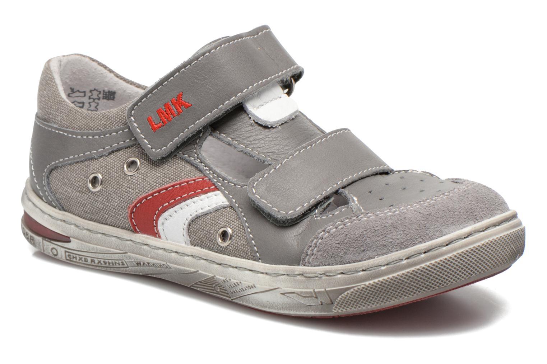 Chaussures à scratch Little Mary SALVATORE Gris vue détail/paire