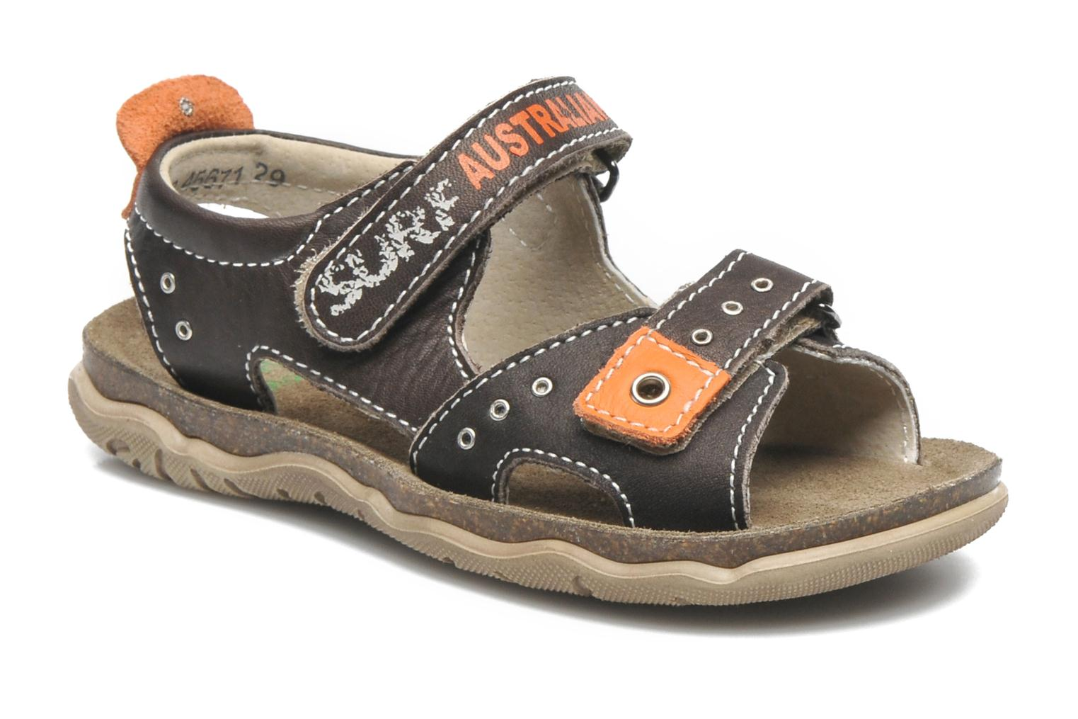 Sandals Little Mary SURFER Brown detailed view/ Pair view