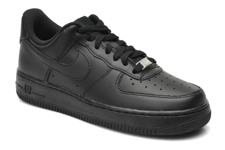 Baskets Nike Wmns Air Force 1 '07 Noir vue détail/paire