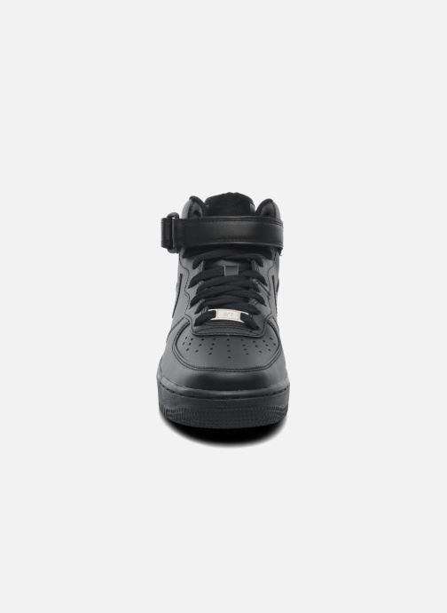 Sneaker Nike Wmns Air Force 1 Mid '07 Le schwarz schuhe getragen