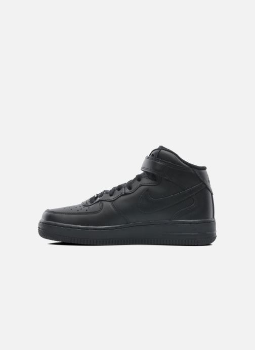 Trainers Nike Wmns Air Force 1 Mid '07 Le Black front view