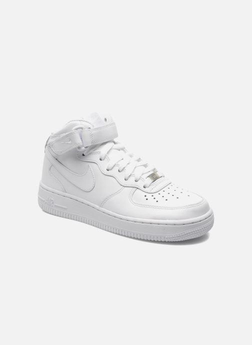 100% authentic 8e06c 7af1a Baskets Nike Wmns Air Force 1 Mid  07 Le Blanc vue détail paire