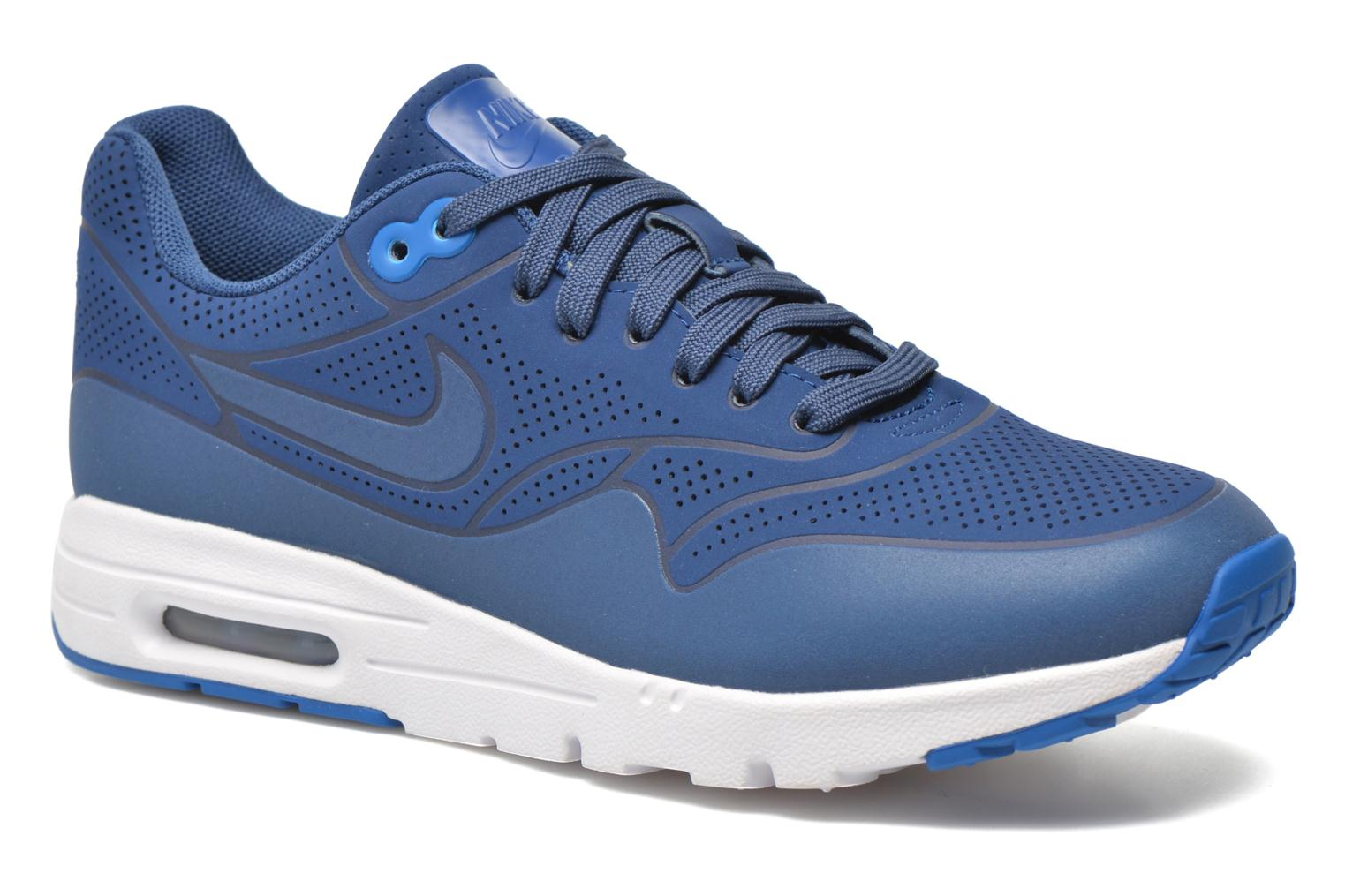 Baskets Nike Wmns Air Max 1 Ultra Moire Bleu vue détail/paire