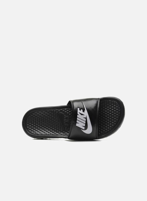 Zuecos Nike Wmns Benassi Jdi Negro vista lateral izquierda
