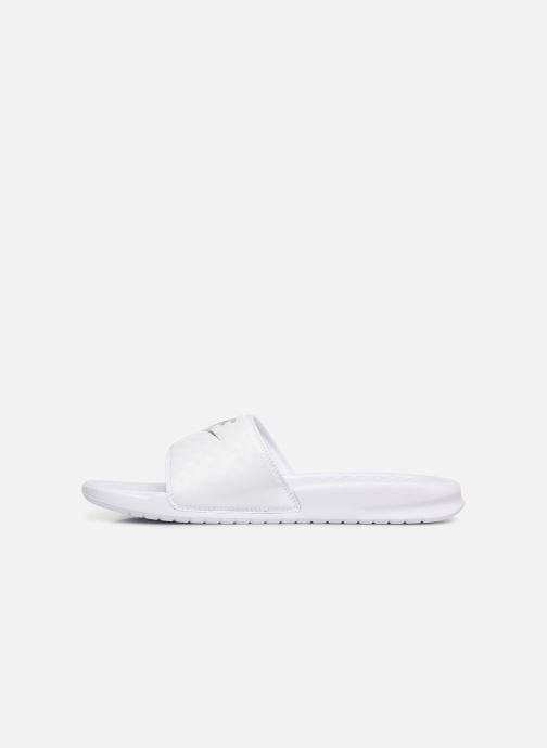Clogs & Pantoletten Nike Wmns Benassi Jdi weiß ansicht von vorne