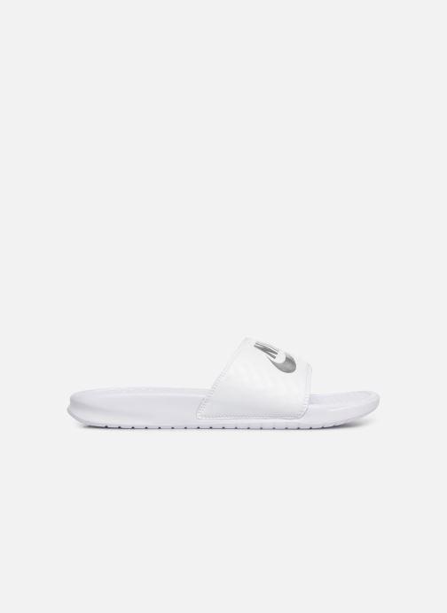 Clogs & Pantoletten Nike Wmns Benassi Jdi weiß ansicht von hinten