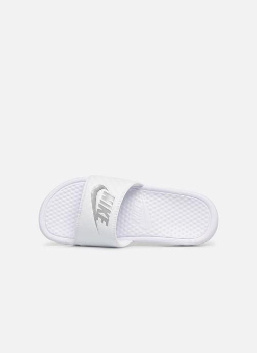 Mules et sabots Nike Wmns Benassi Jdi Blanc vue gauche