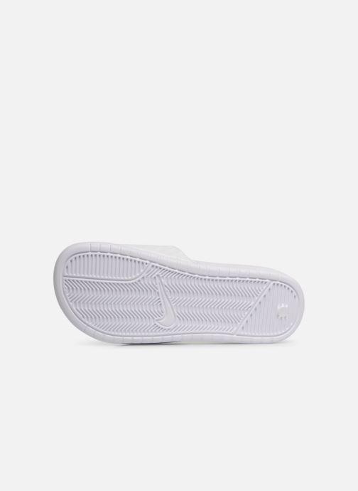Mules et sabots Nike Wmns Benassi Jdi Blanc vue haut