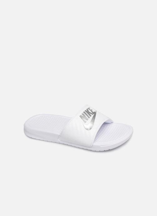 Mules et sabots Nike Wmns Benassi Jdi Blanc vue détail/paire